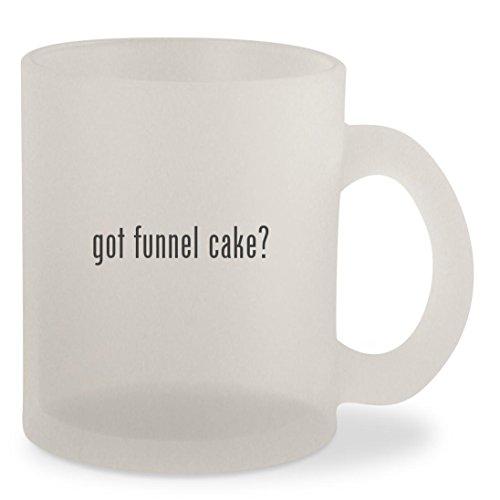 got funnel cake? - Frosted 10oz Glass Coffee Cup Mug Flag Dispenser Starter Kit