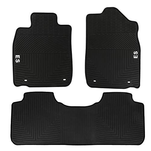 HD-Mart Car Floor Mats Lexus ES 2012-2013-2014-2015-2016-2017-2018, Custom Fit Black Rubber Car Floor Liners Set for All Weather Protection - Heavy Duty & Odorless