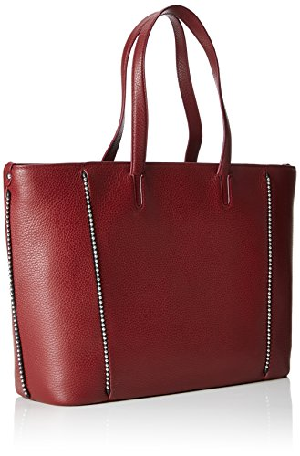 HUGO Mayfair Mujer Shopper Dark Red Stud totes Bolsos Rojo xxrvpBw