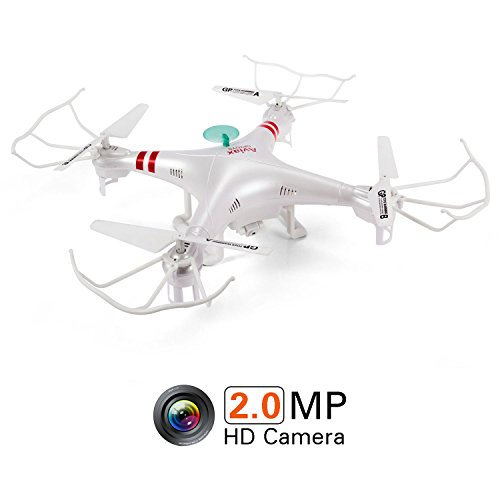 GPTOYS RC Toys F2 Aviax 6-Axis 2.4GHz Quadcopter with 2.0m Camera Remote Contral Drone and Headless Mode