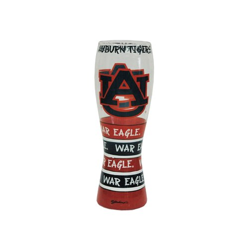 Game Day Outfitters NCAA Auburn Tigers Drinkware Pilsner Glass, One Size/24 oz, Multicolor