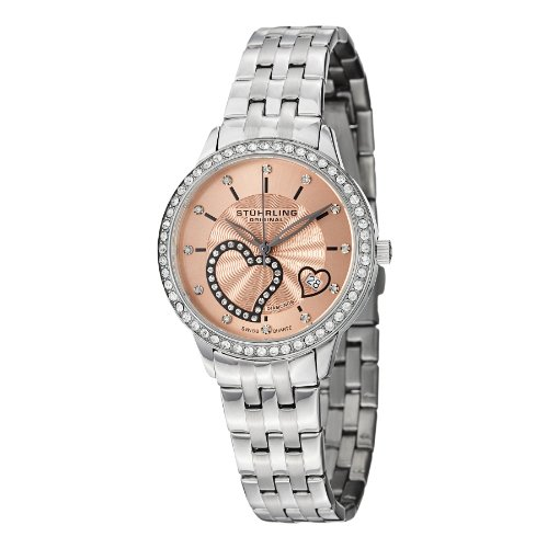 Stuhrling Original Women's 739.03 Amour Aphrodite Elite Analog Display Swiss Quartz Silver Watch