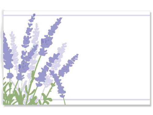 50 pack Lavender Field-No SentimentEnclosure Cards (20 unit, 50 pack per unit.) by Nas