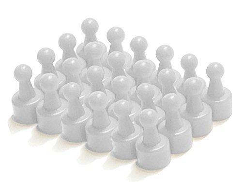 White Pawn Magnetic Push Pins