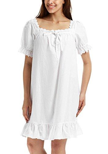 Adorneve Lace Trim Victorian Bell Sleeve Sleepwear for Women by ADORNEVE