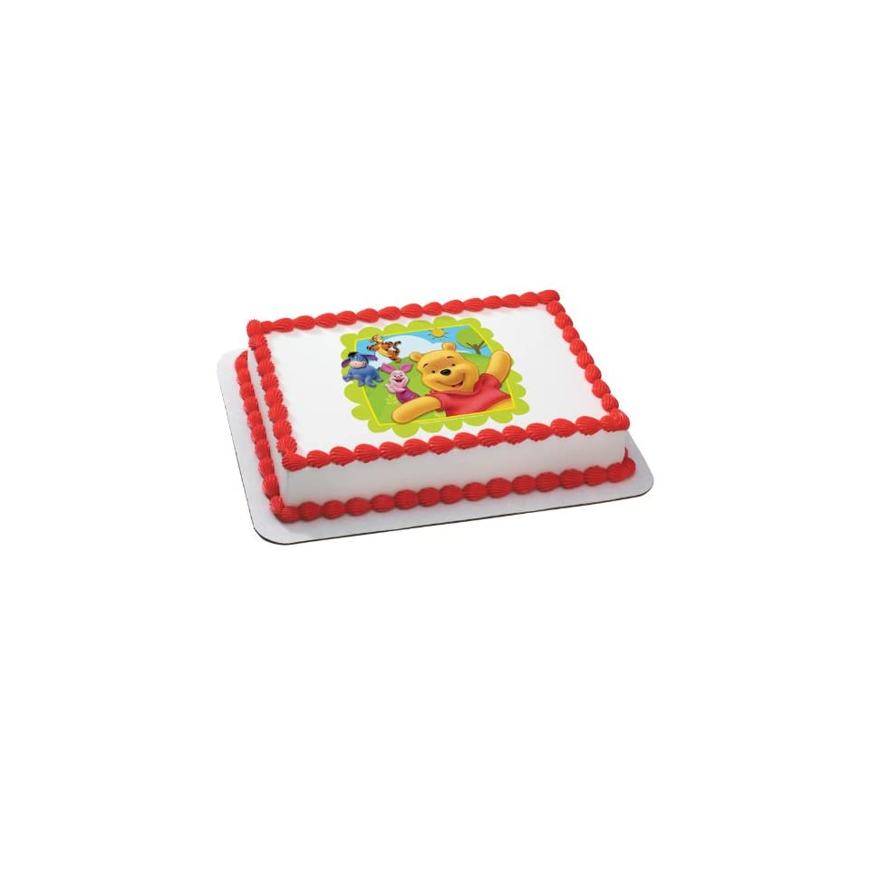 Winnie the Pooh   Friends at Play Edible Icing Cake Topper Party Accessory