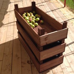 Vine Wooden Crate Storage Box Fruit Crates Basket Home General