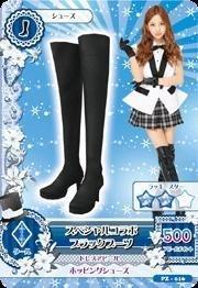 PZ-016 : スペシャルコラボブラックブーツ/板野友美
