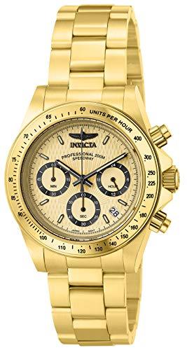 Invicta Men's 14929 Speedway Analog Display Japanese Quartz Gold Watch