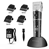 Hair Clippers for Men, ETEREAUTY Professional Cordless Hair Trimmer Beard Trimmer Rechargeable Hair Cutting Kit with 4 Guide Combs, 2200mAh Battery, LED Display for Men Kids Barber Clippers