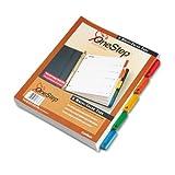 QuickStep OneStep Bulk Index System, Title: 1-5, Letter, Multicolor, 24 Sets/Box, Sold as 24 Set