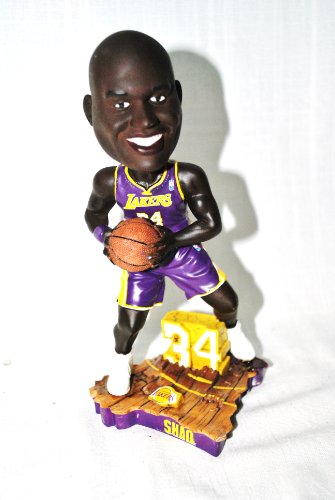 Limited Edition Shaq Oneal #34 LA LAKERS PURPLE JERSEY action Limited Edition Bobble head ()