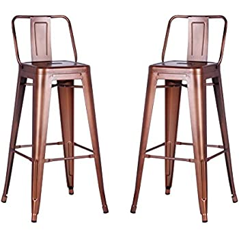 rose gold bar stools. AC Pacific Modern Industrial Metal Barstool Bucket Back 4 Leg Design, 30\ Rose Gold Bar Stools S