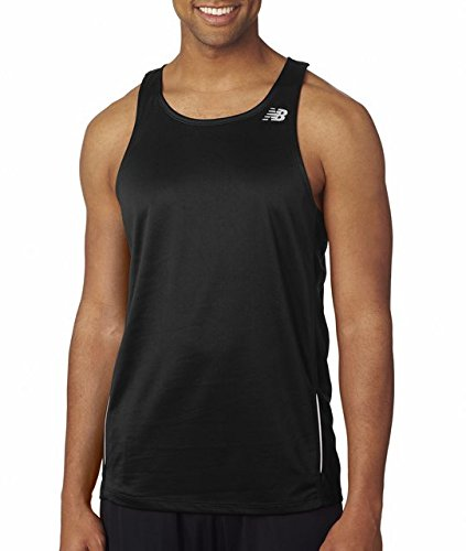 New Balance Tempo Men's Running Singlet, Black, Small