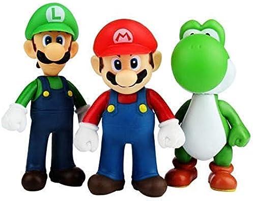 CY Figuras de Super Mario Toys Mario y Luigi Figuras Yoshi y Mario Bros, Conjunto de 3 Figuras Mario en PVC para niños y Adultos 2 Porte-clés: Amazon.es: Joyería