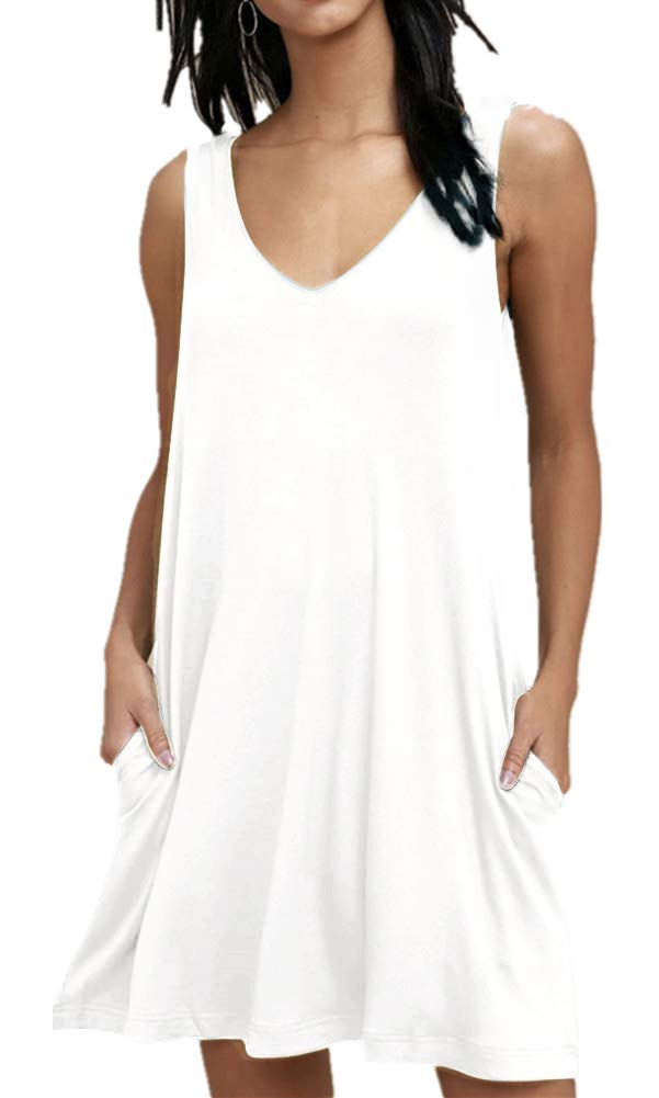 BISHUIGE Womens Swimsuit Cover Up White Medium