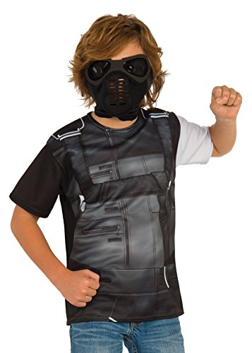 Rubie's Costume Captain America: Civil War Winter Soldier Child Top and Mask, Large ()