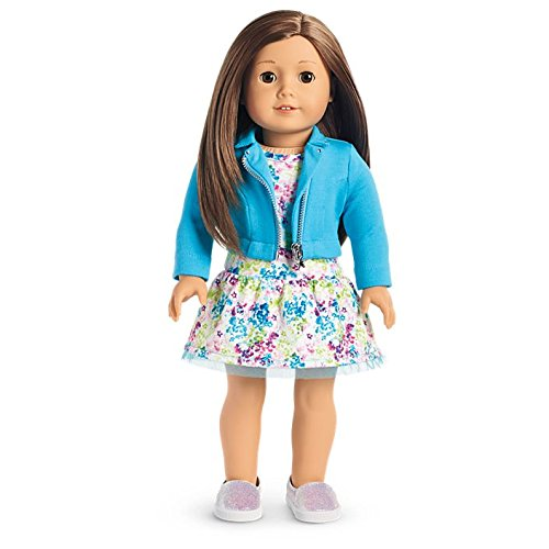 American Girl - 2017 Truly Me Doll: Light Skin, Layered Brown Hair, Brown Eyes - Girl Haired Brown