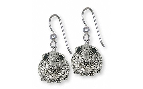 Guinea Pig Jewelry Sterling Silver Guinea Pig Earrings Handmade Piggie Jewelry GP12X-E