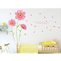 Solimo Wall Sticker for Living Room (Flowers & Petals, ideal size on wall : 245 cm X 150 cm)