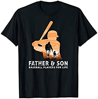 Cool gift Father Day T Father And Son Baseball Players For Life Women Long Sleeve Funny Shirt / Navy / S - 5XL