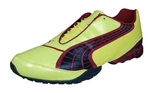 66d14c571 PUMA V1.10 Viz Trainer Mens Astro Turf Soccer Sneakers Boots-Yellow-