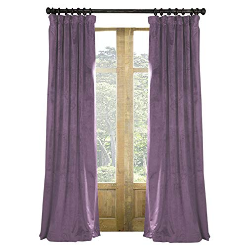 Artdix Blackout Curtains Panels Window Drapes - Fresh Violet 72W x 84L Inches (2 Panels) Velvet Lined Back Tab Nursery Insulated Solid Thermal Custom Curtains for Bedroom, Living Room, Kids Room