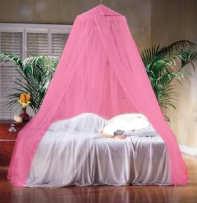 A-Express Pink Mosquito Net Bed Canopy Polyester 10 Meter x 2.5 Meter Insect Protection