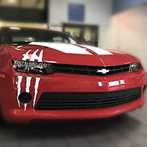 Decaldino Single Headlight Scar Decal Fits Many Car Makes and Models Gloss Black