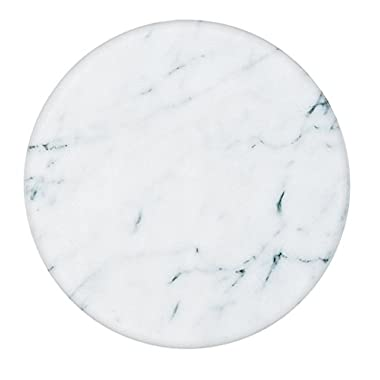 Fox Run 3840 Marble Lazy Susan, White