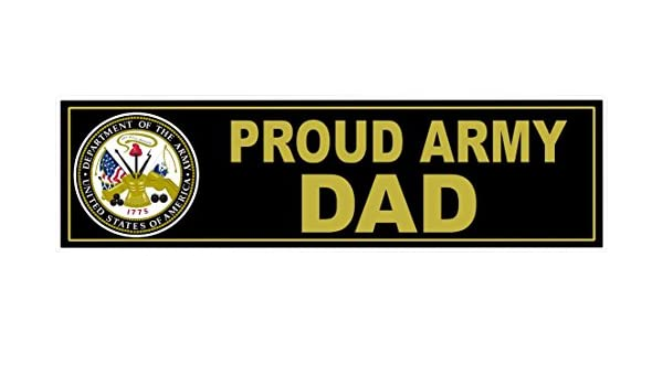 Amazon com 1 pcs tip top fashionable u s proud army dad stickers sign military car decal window size 11 x 3 home kitchen