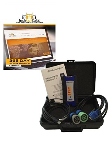 Nexiq USB Link 2 with OBDII Cable with 12-month Subscription to TruckFaultCodes (Nexiq Software)