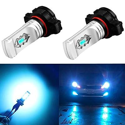 Alla Lighting 3600lm Xtreme Super Bright PSX24W LED Bulbs PSX24W Fog Light High Illumination ETI 56-SMD LED PSX24W Bulb 12276 2504 PSX24W Fog Lights Lamp Replacement - 8000K Ice Blue: Automotive