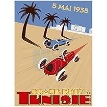 Sport Advert Motor Racing Grand Prix 1935 Tunisia Poster Print