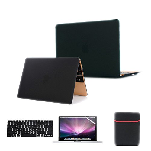 Se7enline 4 in 1 Macbook 12'' Laptop Computer [2015 Release Model A1534] Case Cover Multi colors Soft-Touch Plastic (12 Inch 1 Tb Laptop)