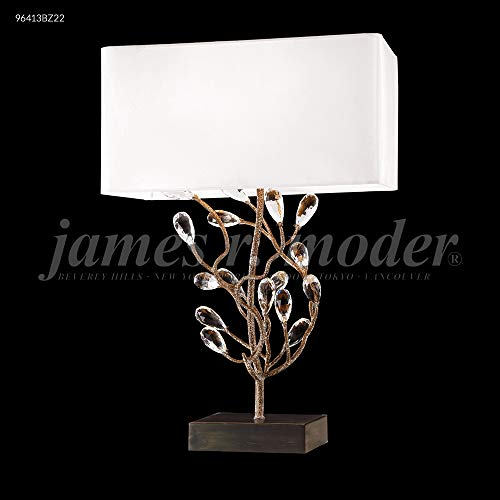 James R Moder 96413BZ22 1 Ligth Crystal Table Lamp Bronze Imperial Crystal Clear