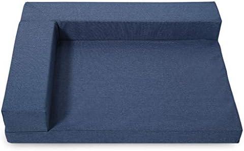 ペットベット ケンネルリムーバブル洗える犬のベッドテディゴールデンレトリーバーペットネスト中小犬のソファマットレス猫リッター犬用品 ベッド・ソファ SHANCL (Color : Blue, Size : M:75*60*13cm)