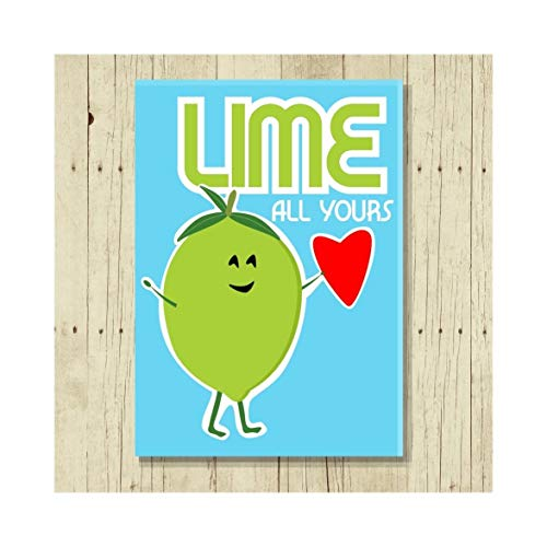 Lime All Yours Magnet Pun Gifts, Love 2.5 x 3.5