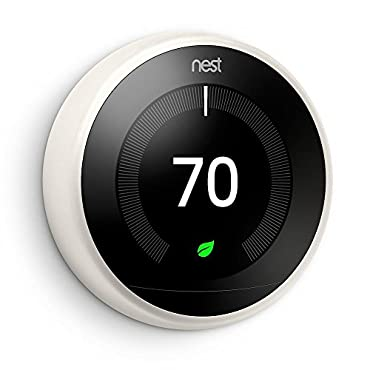 Nest T3017US 3rd Generation Learning Thermostat - Works with Alexa - White