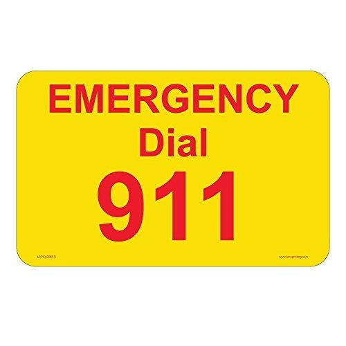 (Emergency 911 Phone Stickers, 2