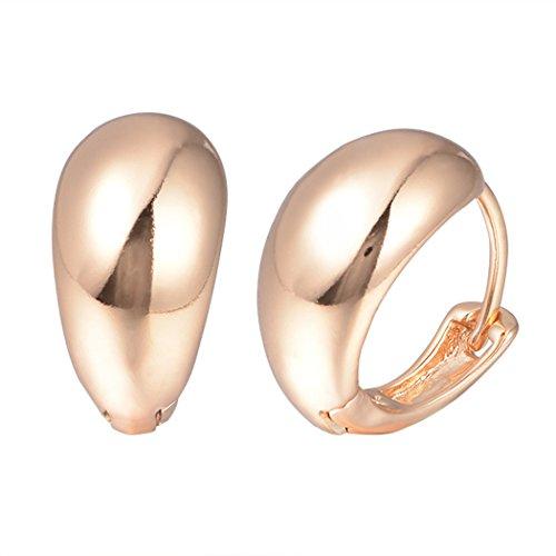 - Snowman Lee Round Hinged Hoop Earrings Gold Plated