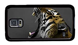 Hipster Samsung Galaxy S5 Case good covers Yawning Tiger PC Black for Samsung S5 by runtopwell