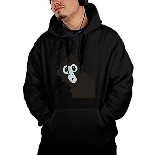 Spider Monkey Front - DHDFHDF Men's Spider Monkey Print Athletic Sweaters Fashion Hoodies Sweatshirts