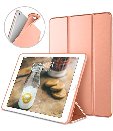 iPad Case for iPad Mini 4, DTTO [Anti-Scratch] Ultra Slim Lightweight [Auto Sleep/Wake] Smart Case Trifold Cover Stand with Flexible Soft TPU Back Cover for iPad mini4, Bright Orange