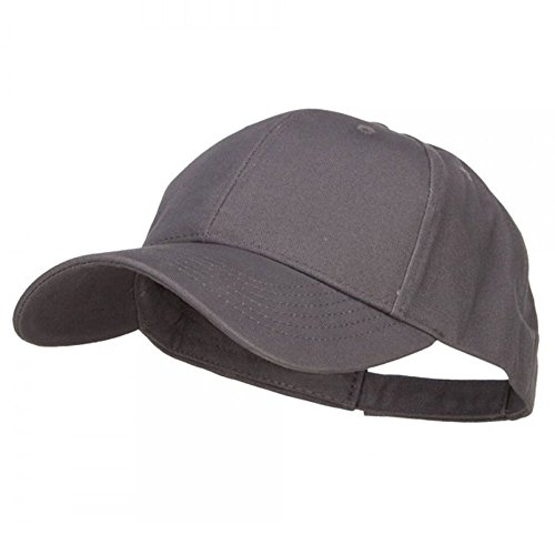 New Big Cap Hat (New Big Size Deluxe Cotton Cap - Charcoal (For Big Head))