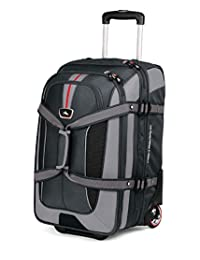 High Sierra AT656-235 AT656 Carry On Expandable Wheeled Duffel with Backpack Straps (Graystone/Shadow/Black)