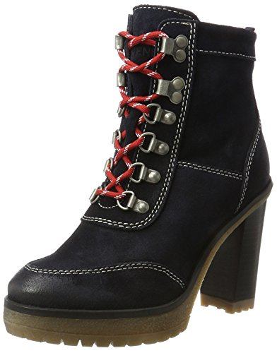 Azul C1385leo Midnight para 14b Jeans Militar Botas Tommy Mujer apqwOx0