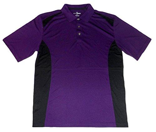 Grand Slam Men's Colorblock Performance Polo - Big & Tall (Large Tall, Purple) (Grand Slam Polo Shirt)
