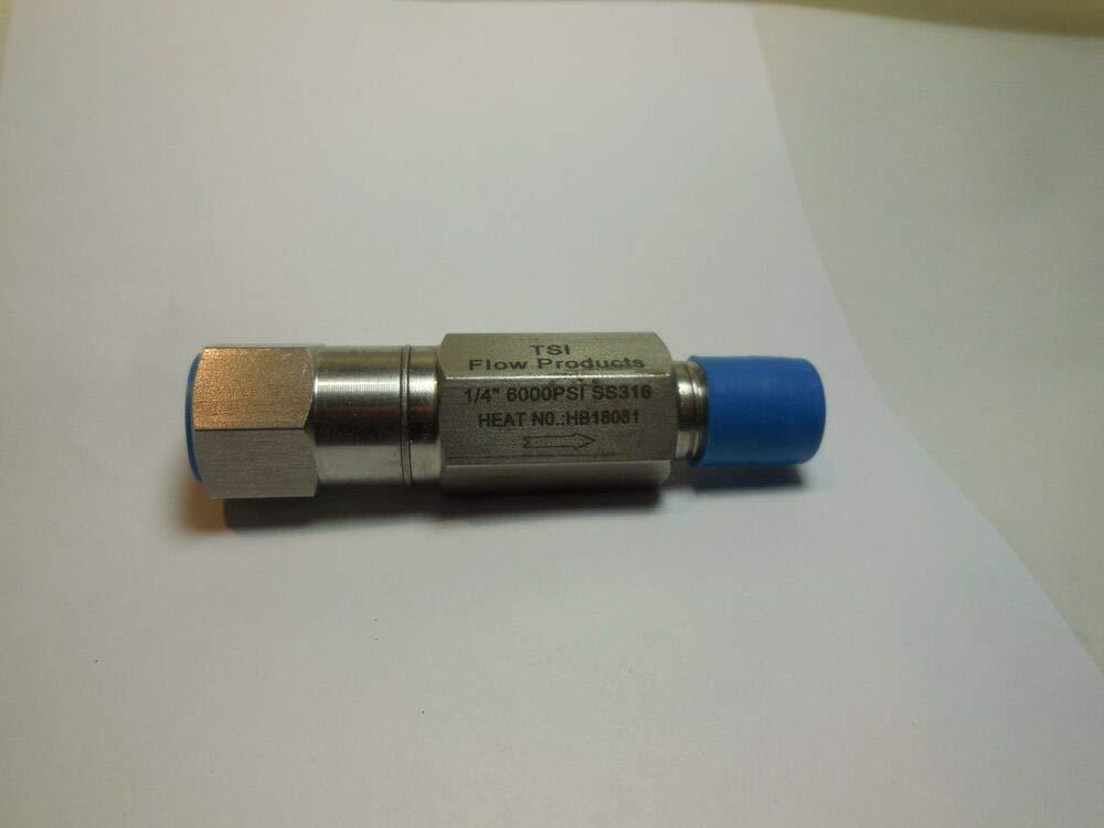 MxF NPT 316 Stainless Steel,New TSI TXLNC1 1//4 Inline Check Valve 6000 PSI,