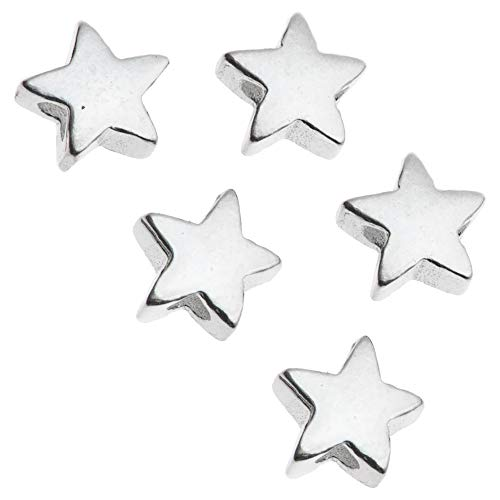 Dreambell 8 pcs .925 Sterling Silver 5mm Little Twinkle Star Bead Connector Spacer/Findings/Bright